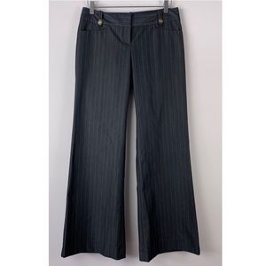 THE LIMITED Drew Fit Wide Leg Pin Stripe Pants 4